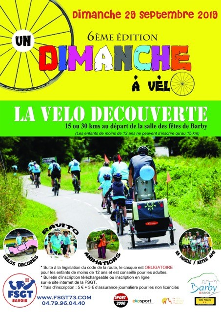Affiche velo decouverte 2019