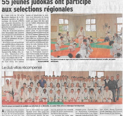 Judo selections regionales journalm